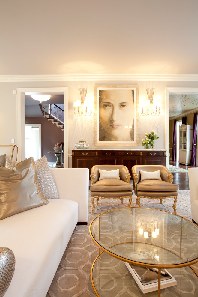 Featured Image of Luxury Formal Living Room With Beauty Lighting