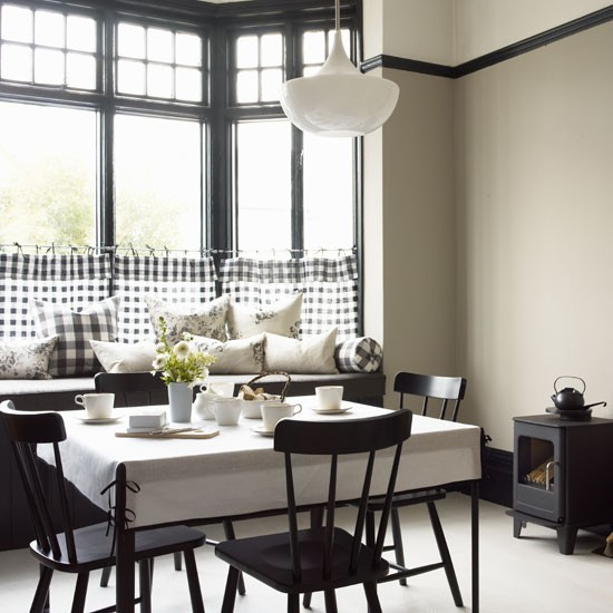 Minimalist black white dining room ideas 6214 house for Dining room ideas 2013