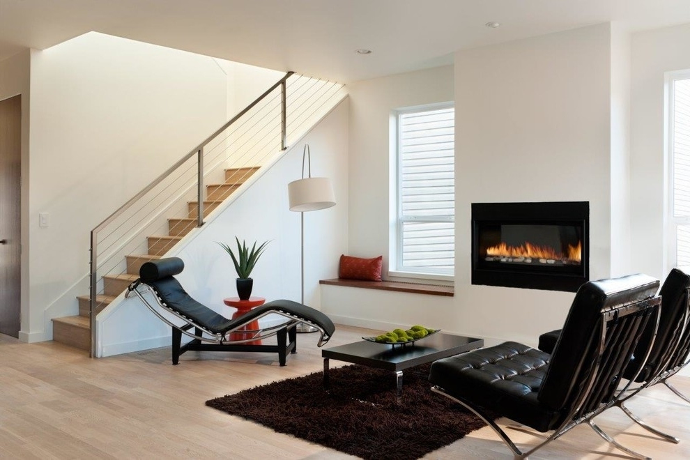 Minimalist Living Room With Modern Fireplace 5884 House Decoration Ideas