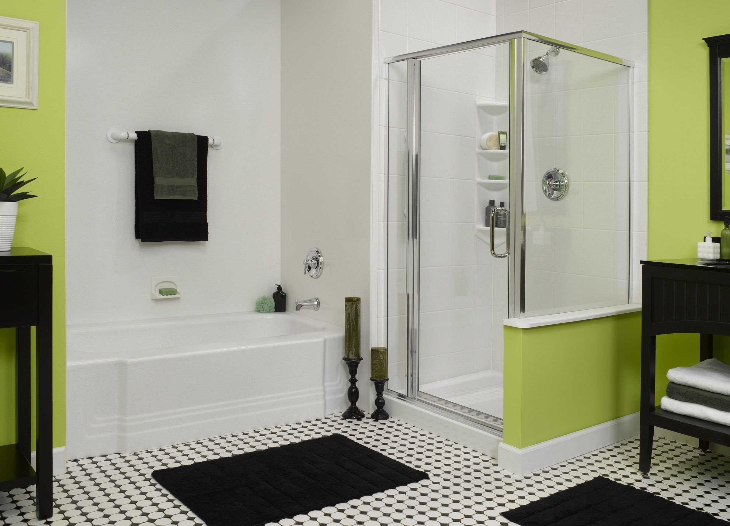 Featured Image of Modern Bathroom And Shower With Green Wall Color