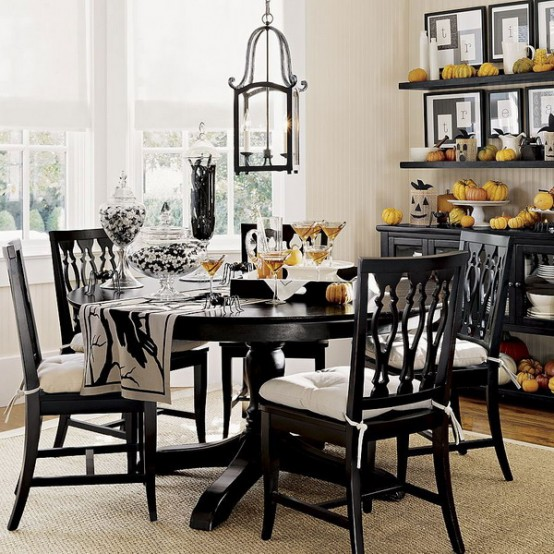 Featured Image of Modern Black White Dining Room Ideas