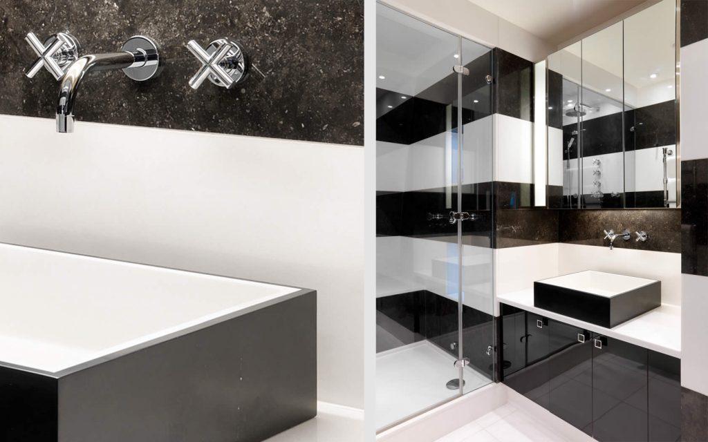 Modern Black White Shower Room Ideas 2013