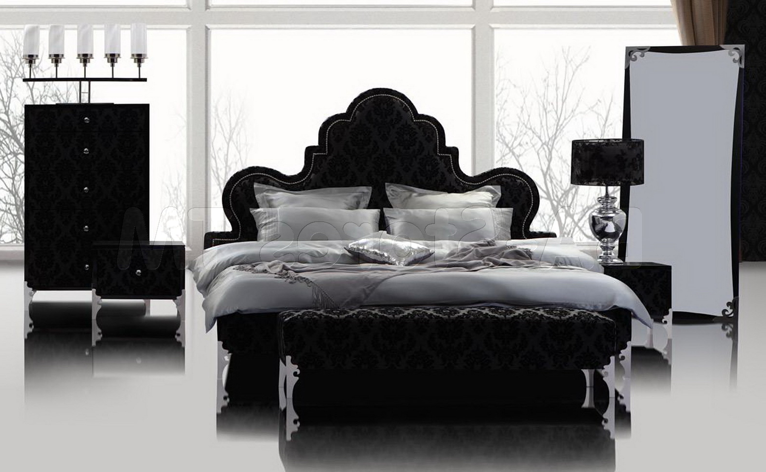 Featured Image of Modern Gothic Bedroom Furnture Set