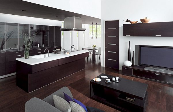 Featured Image of Modern Kitchen Combined With Living Room