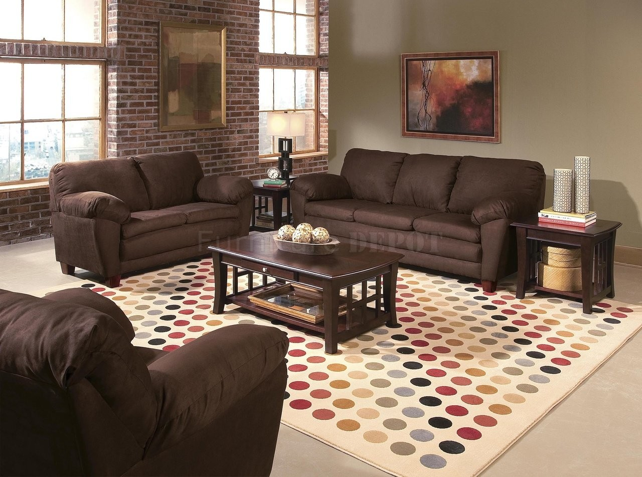 Modern Living Room Color Scheme With Brick Wall (Image 9 of 11)