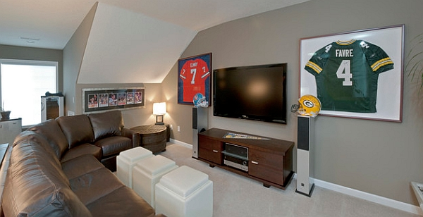 Featured Image of Modern Living Room In Sport Theme