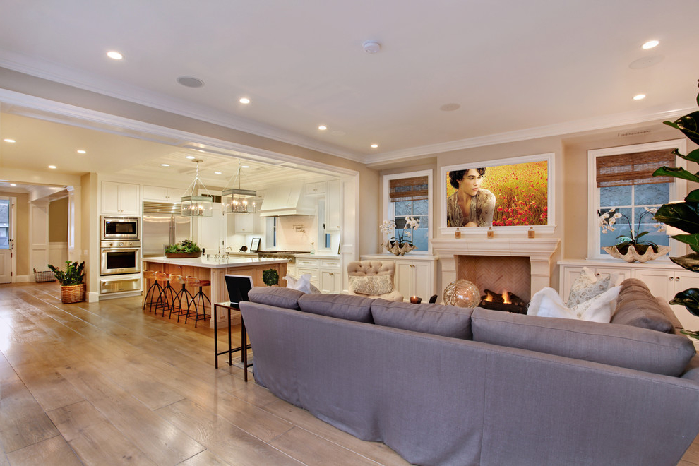 Featured Image of Modern Living Room And Kitchen In Open Floor
