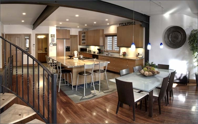 Modern Luxury Kitchen And Dining Room Combination #6146 | House ...