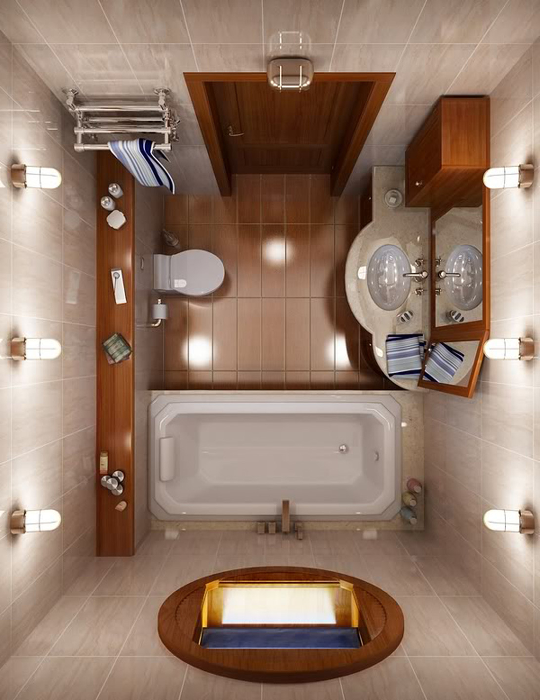 Featured Image of Modern Small Bathroom Remodel Layout