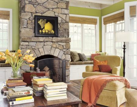 Featured Image of Modern Stone Fireplace Design Ideas