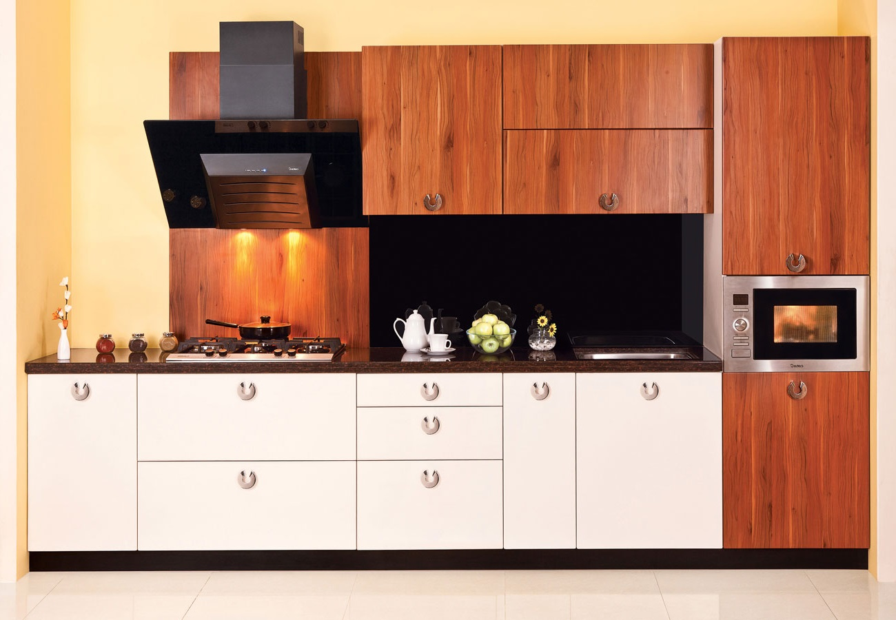 Featured Image of Modular Kitchen Sink With Wooden Kitchen Cabinet