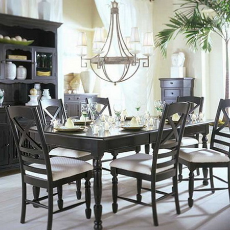 Featured Image of Popular Black White Dining Room Decoration