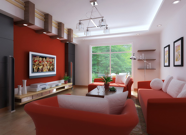 Featured Image of Red Living Room Colors For