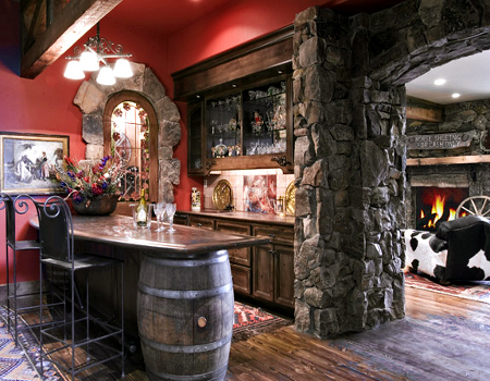 Captivating Featured Image Of Retro Home Bar Design Ideas