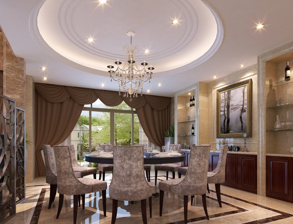 Featured Image of Round European Dining Room Architecture Design