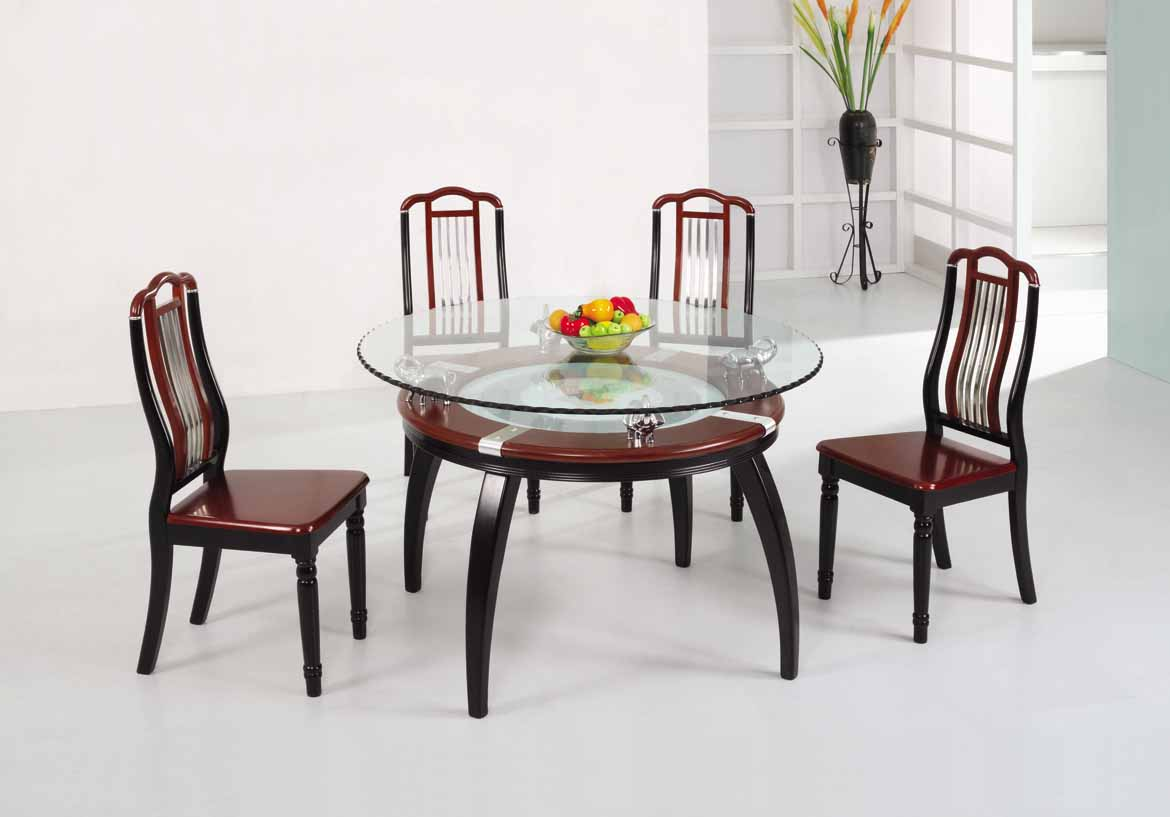 Wooden dining table designs with glass top 13554 for Dining table set designs