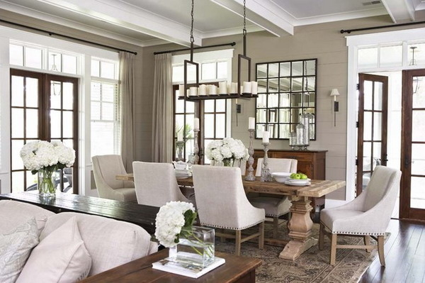 90 rustic living room dining room combos love this for Playroom living room combination