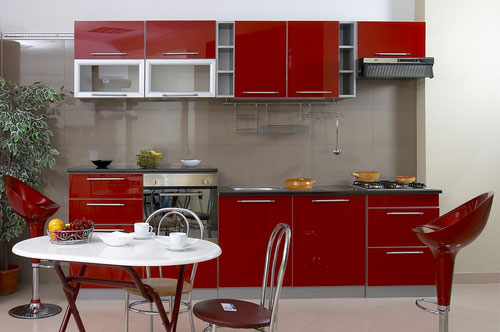 Featured Image of Small Kitchen Furniture Red Color Ideas