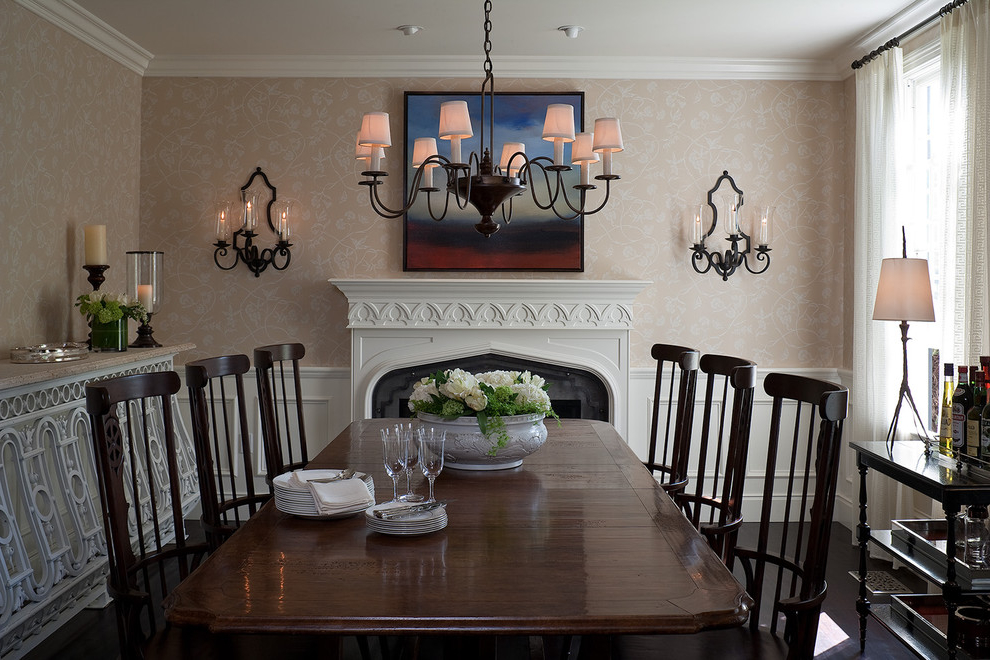 Featured Image of Traditional Dining Room In American Style