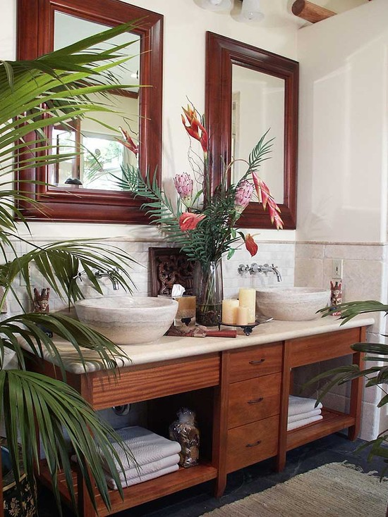 Featured Image of Tropical Bathroom Furniture Ideas