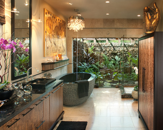 Featured Image of Tropical Bathroom Interior Ideas