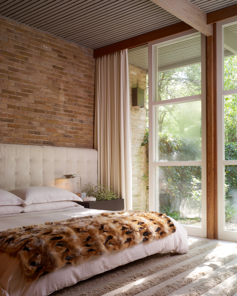 Featured Image of Unique Bedroom Interior With Brick Wall