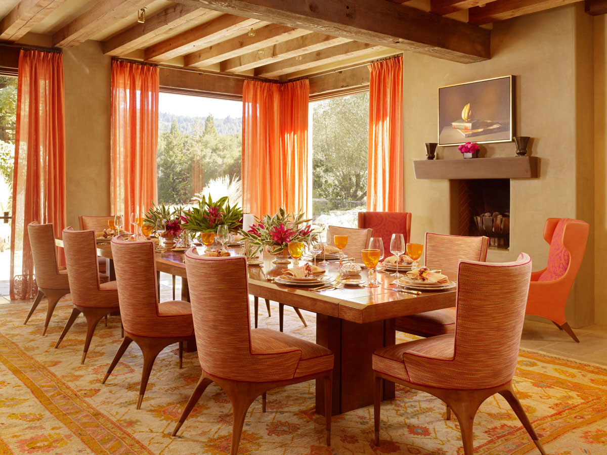 Featured Image of Warm Dining Room Contemporary Design