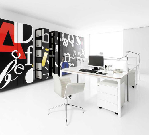 Featured Image of White Modern Office Furniture Designs Ideas