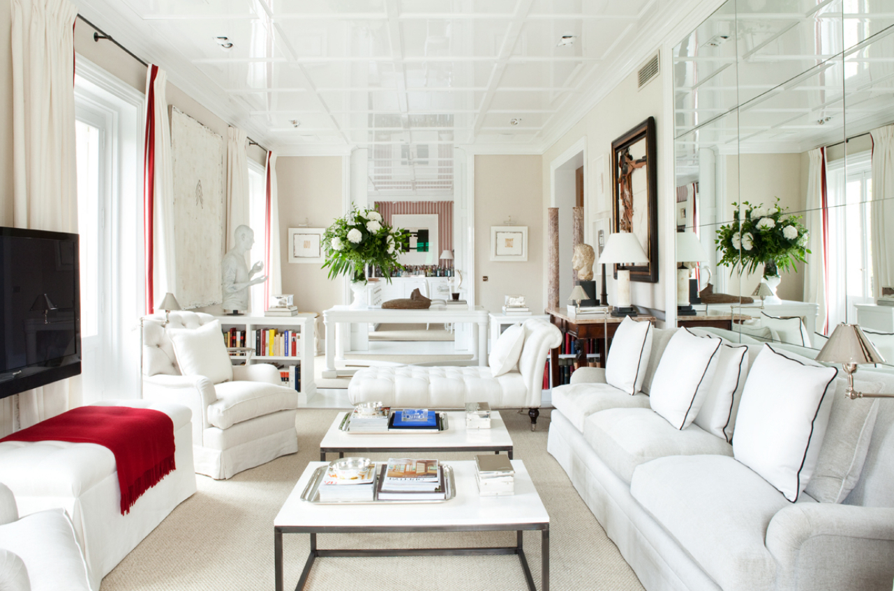 Featured Image of White Narrow Living Room