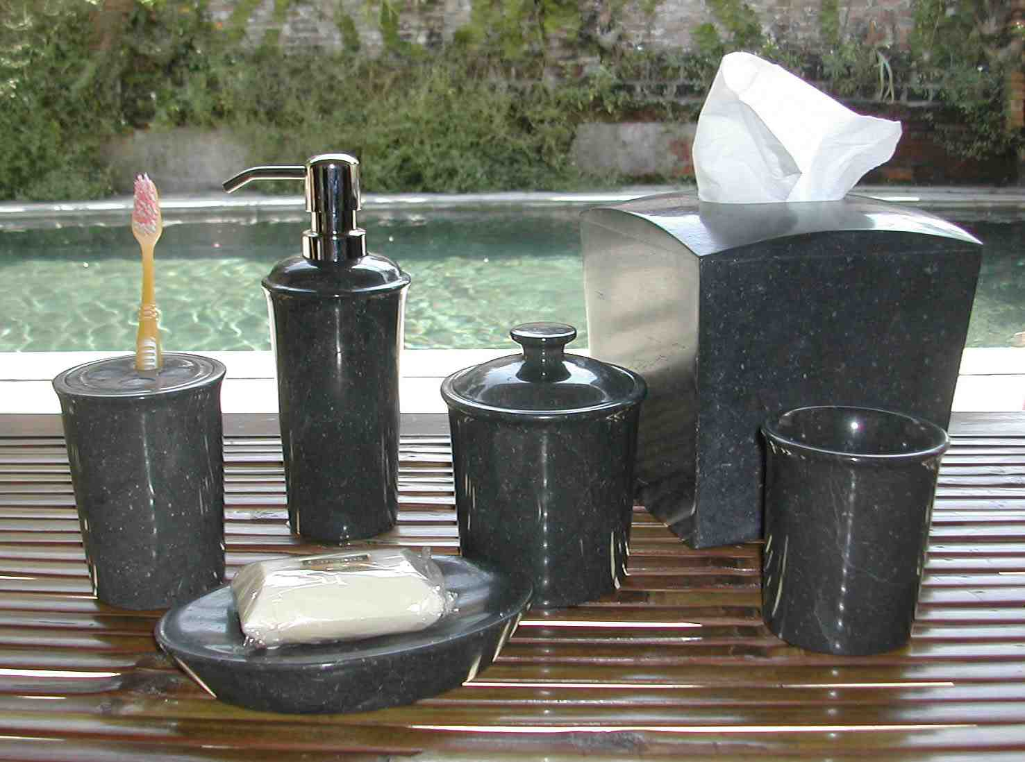 Featured Image of Bathroom Accessories Detailed About Black Marble Bathroom