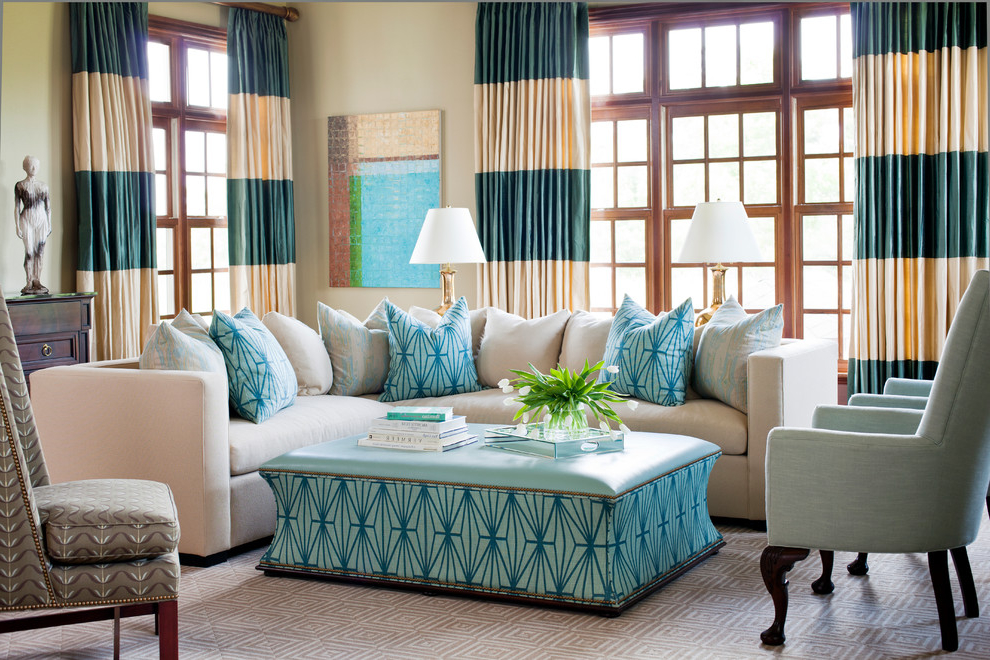 Featured Image of Colorful Living Room Curtain Design
