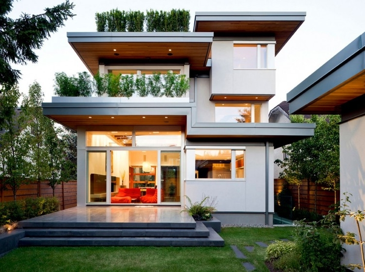 Featured Image of Contemporary House Exterior Design Green Nuance