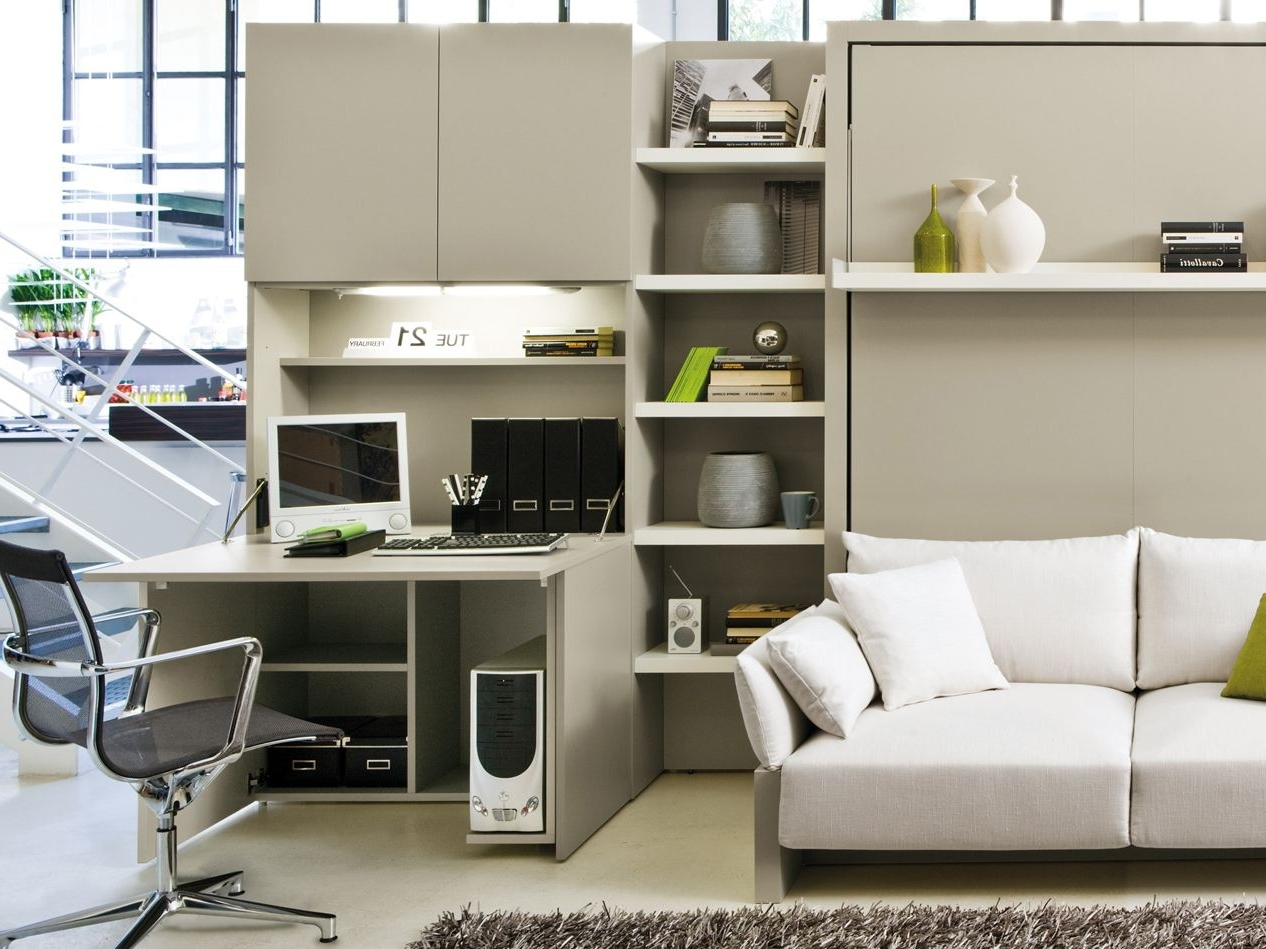 Featured Image of Contempory Modular Home Office Furniture White Color