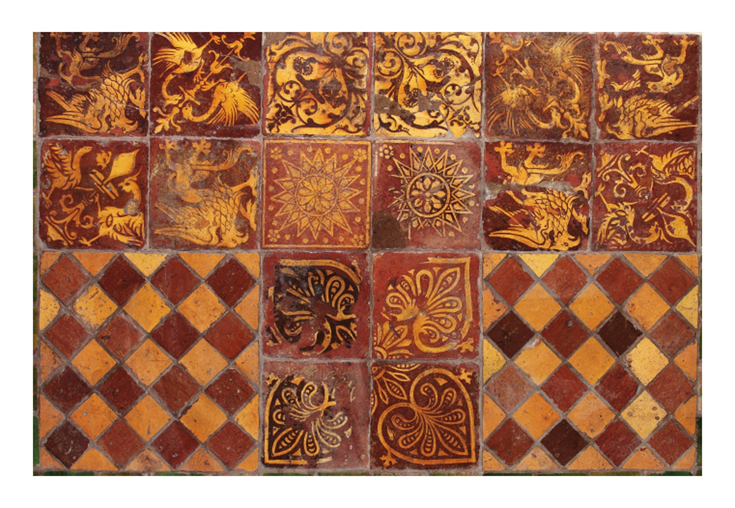 Featured Image of Exciting Collection Of French Encaustic Decorated Tiles