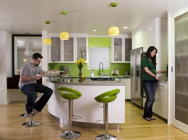 Featured Image of Modern Home Bar With Green Color Theme Design