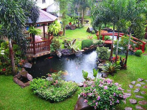 Featured Image of Modern Nature Garden Pond With Gazebo