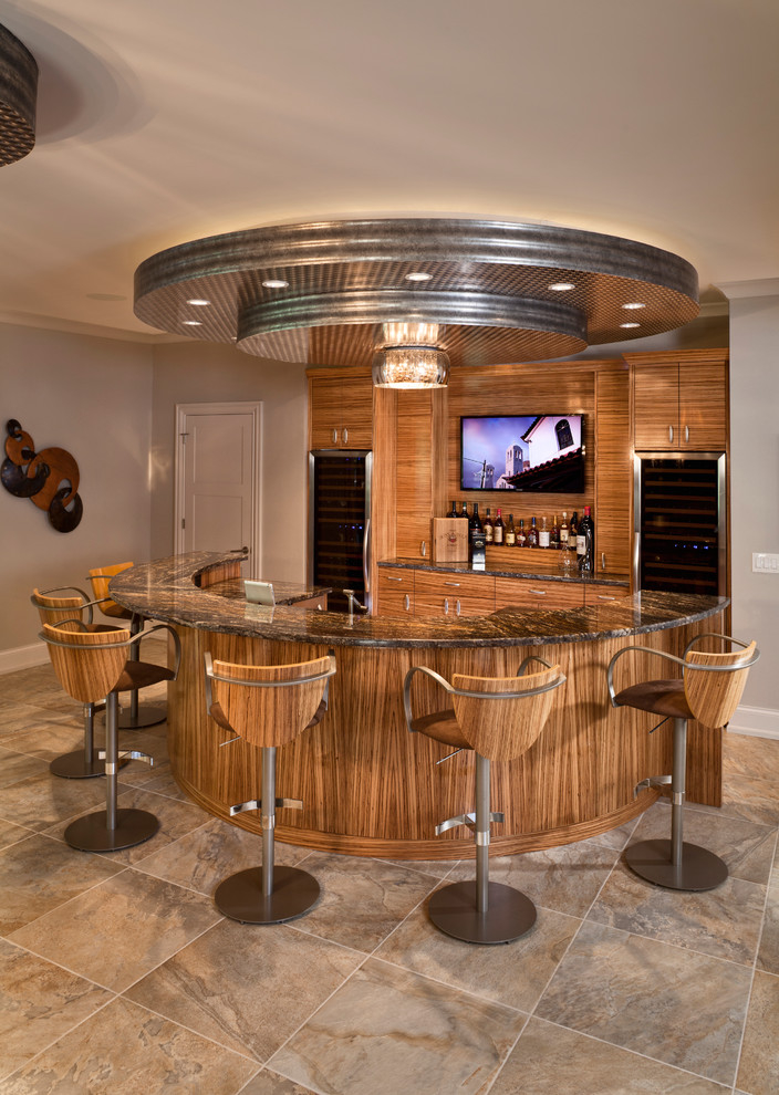 Modern Round Home Bar Wooden Furniture Gallery