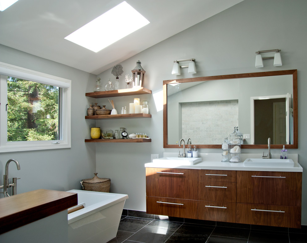 Featured Image of Wooden Modern Bathroom Vanity