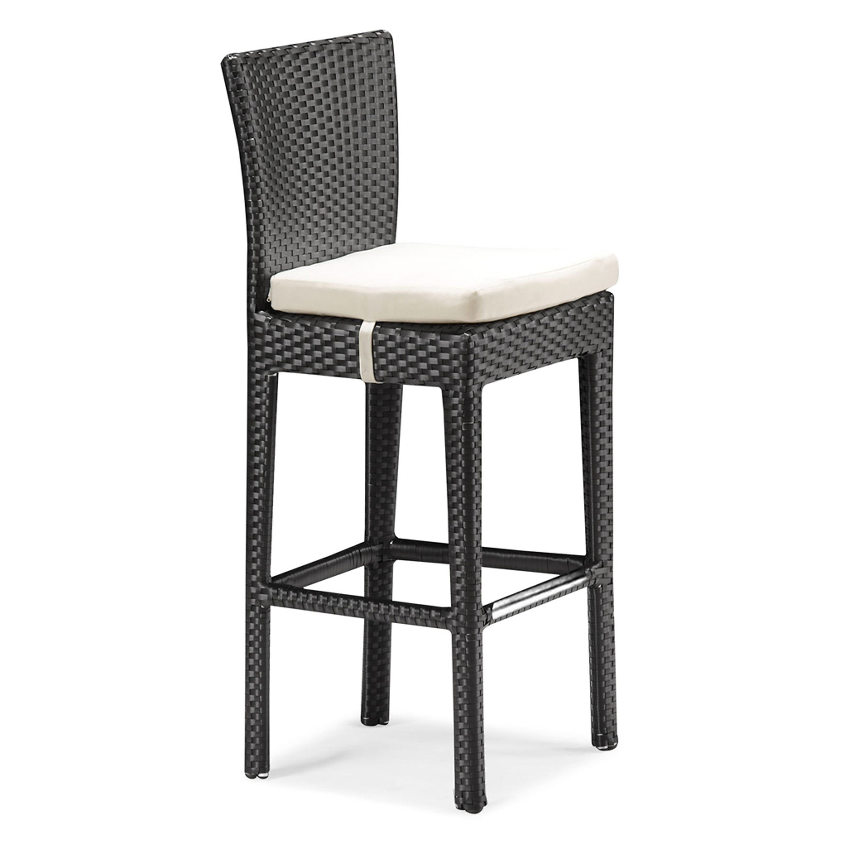 Amazing Zuo Modern Outdoor Design Idea With Black Barstool With White Seat Cushion Interesting Zuo Modern Outdoor Design Ideas (View 9 of 28)