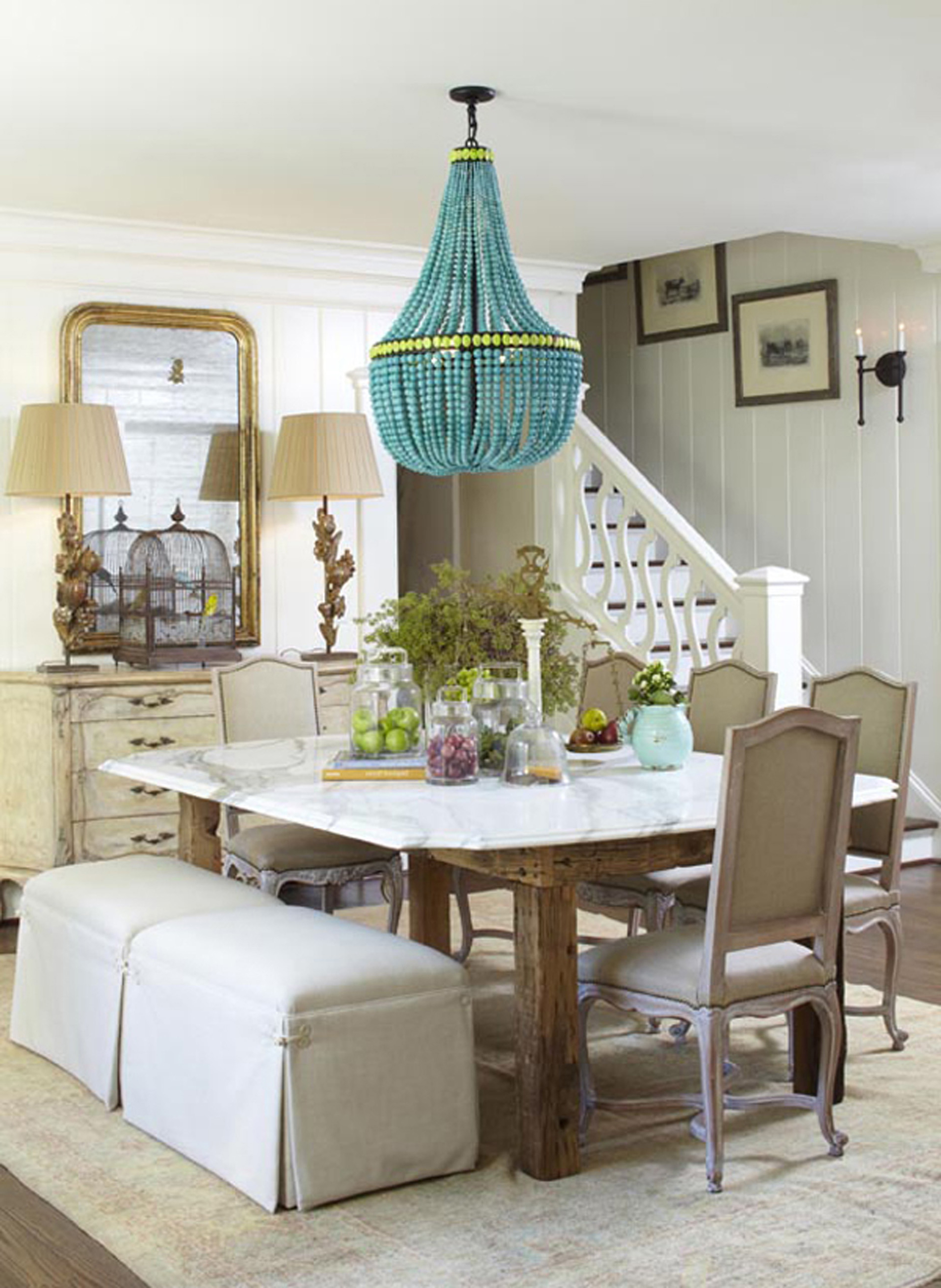 Apartments Decor Of Meg Adams Eclectic Dining Room With Unique Blue Lantern Listed In Charming With Stunning Eclectic Lantern Ideas (Image 16 of 45)