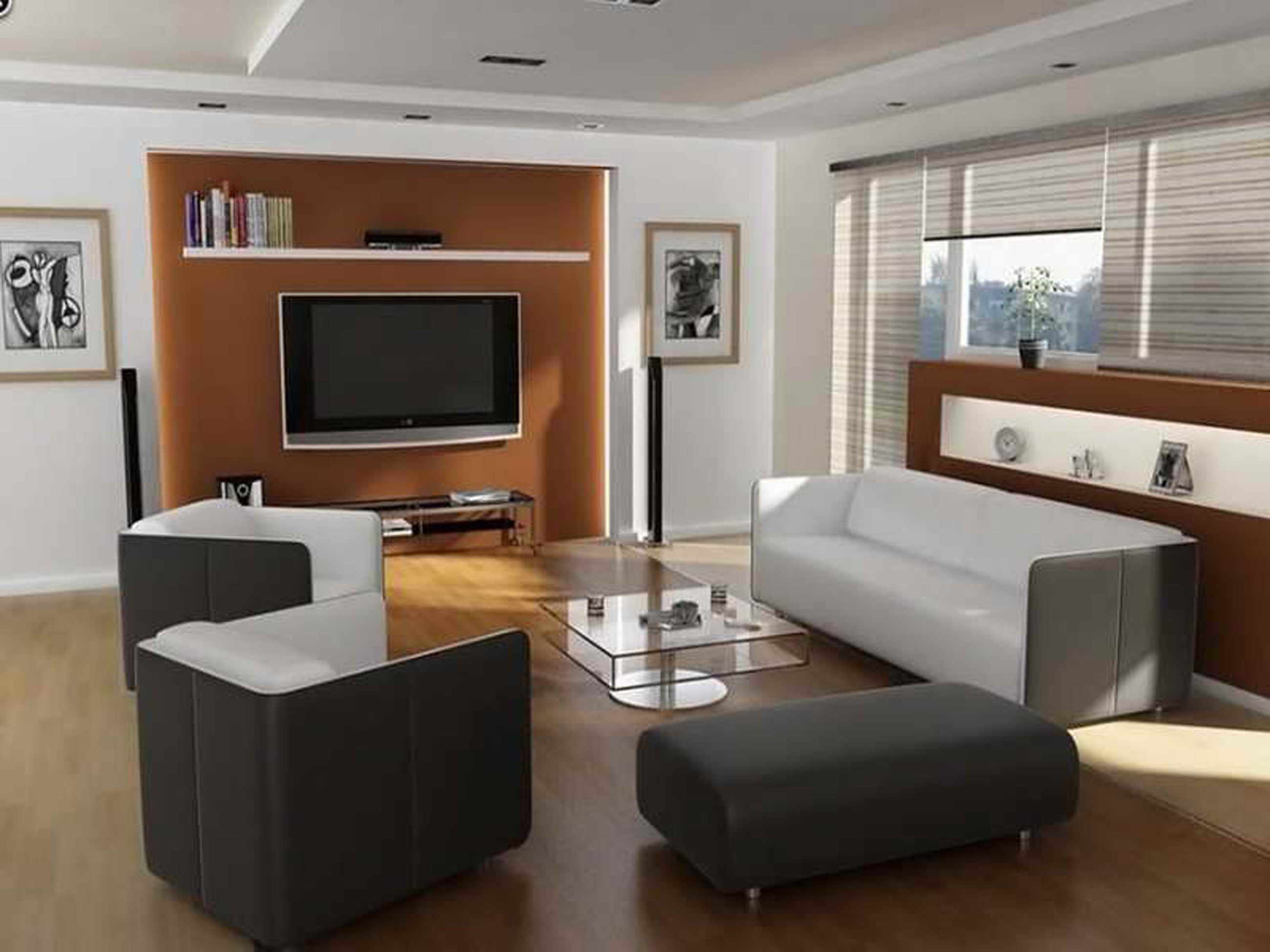 Apartments Decor Of Simple Design Ideas With Modern Sofa With Wood Cabinet (Image 22 of 45)