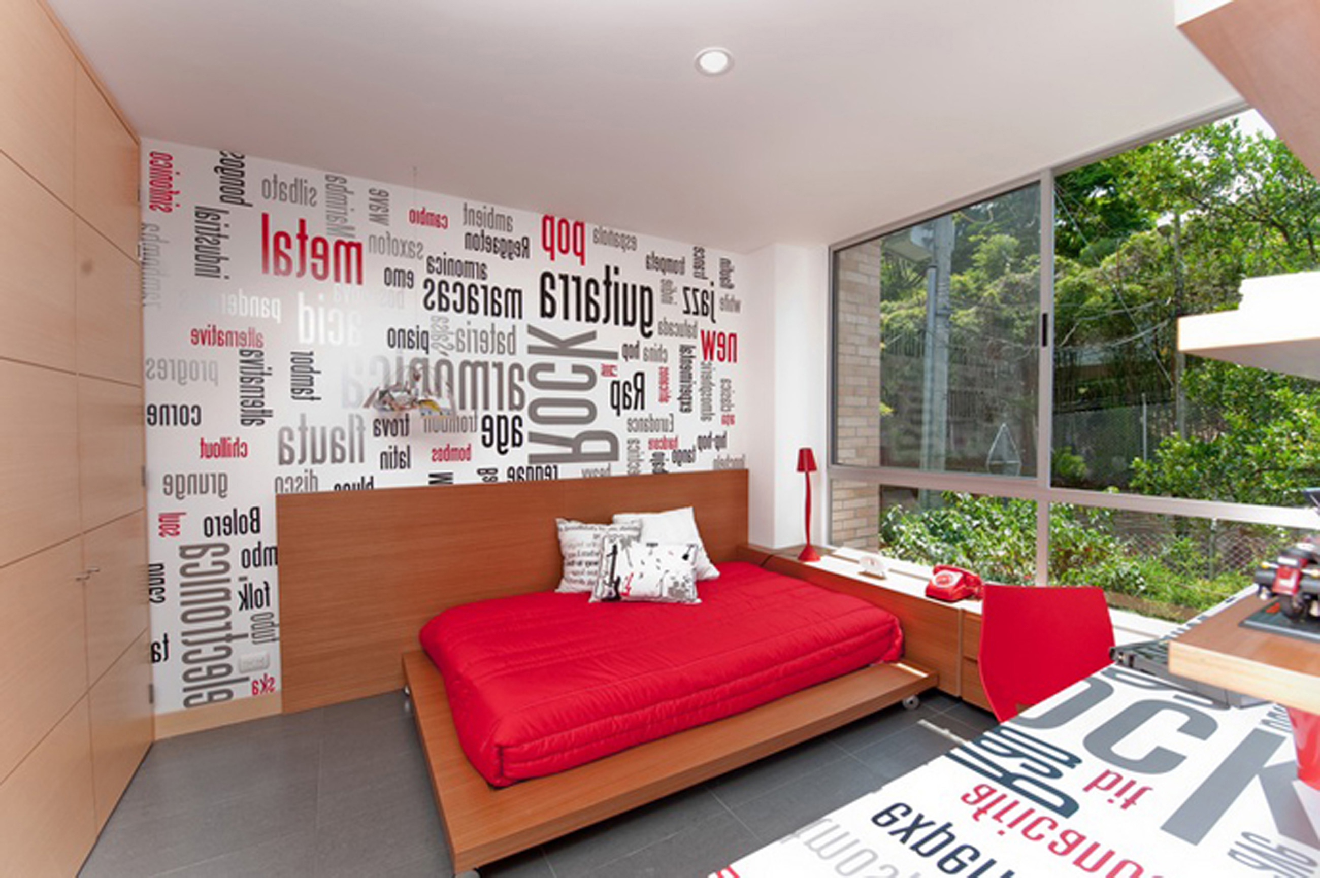 Apartments Decor Of Simple Design Ideas With Unique Wall Paint With Red (Image 24 of 45)