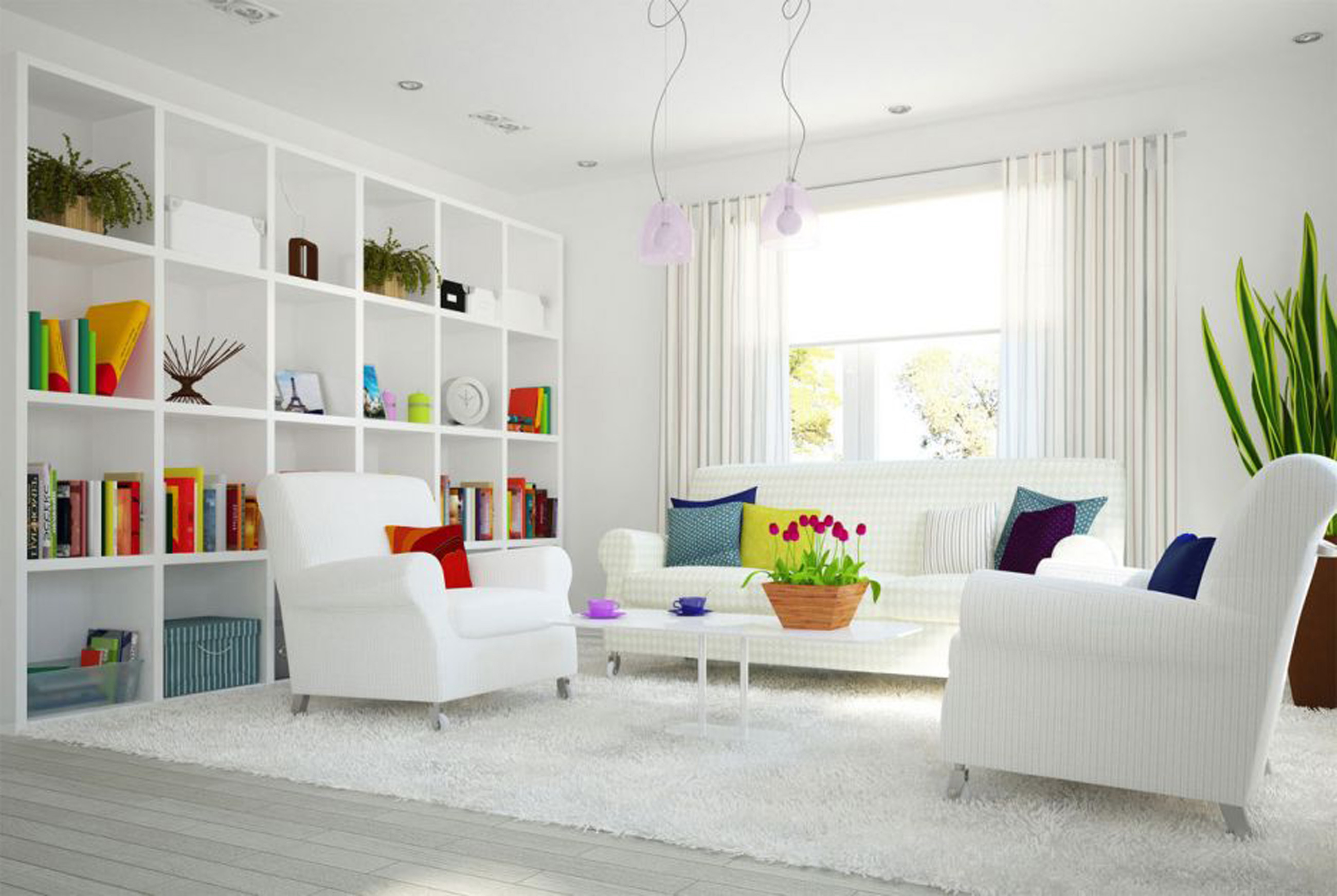 Apartments Decor Of Simple Design Ideas With White So Cleanly Theme Design (Image 26 of 45)