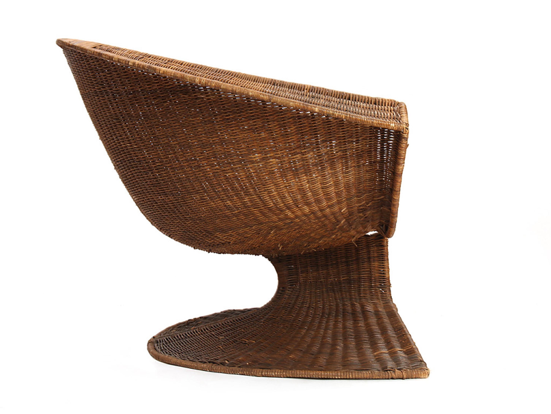 Appealing Outdoor Modern Wicker Armchair Design Idea In Brown Remarkable Outdoor Modern Wicker Ideas (View 13 of 28)