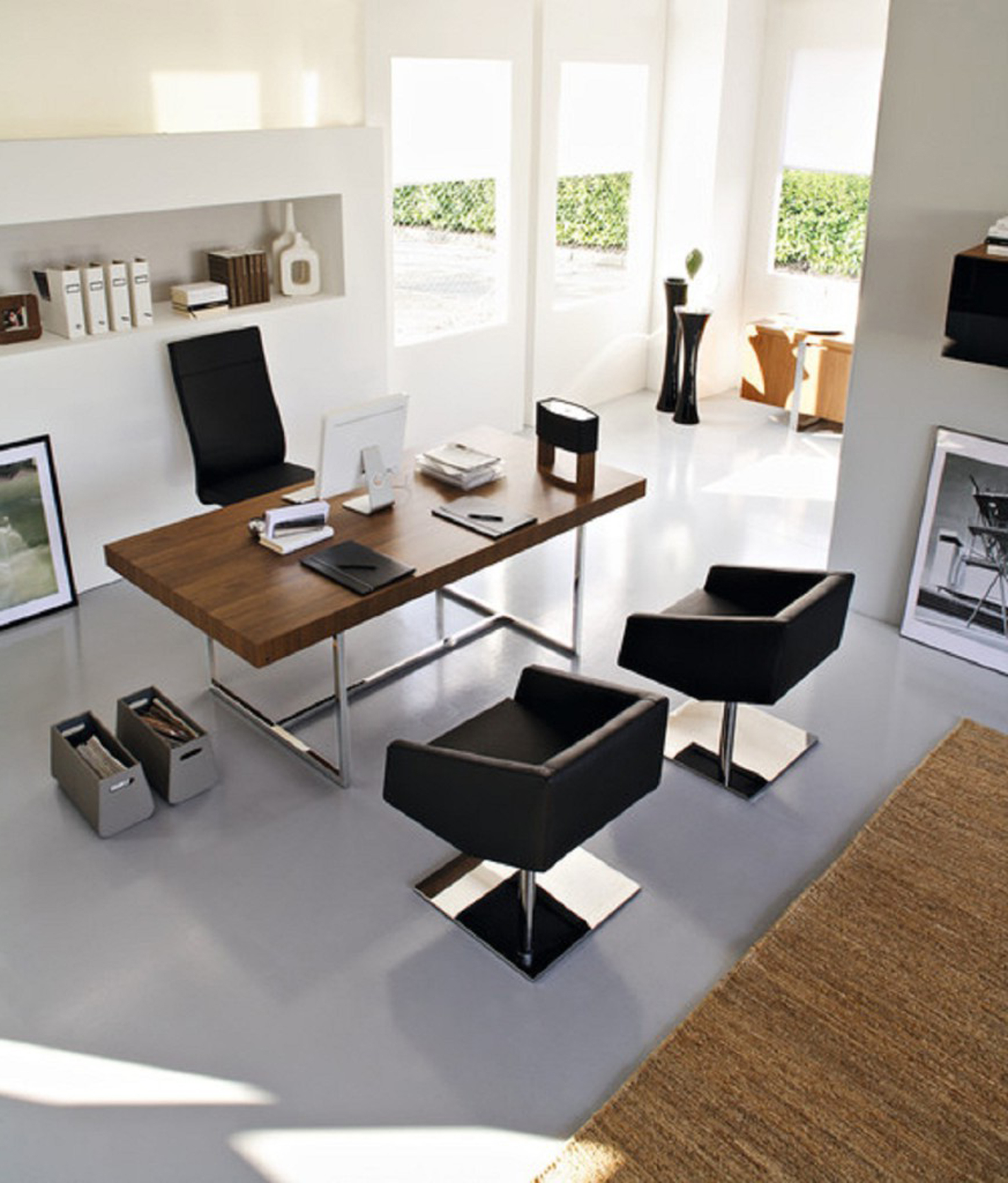 Best modern home office decorating ideas 14089 interior for Modern white office