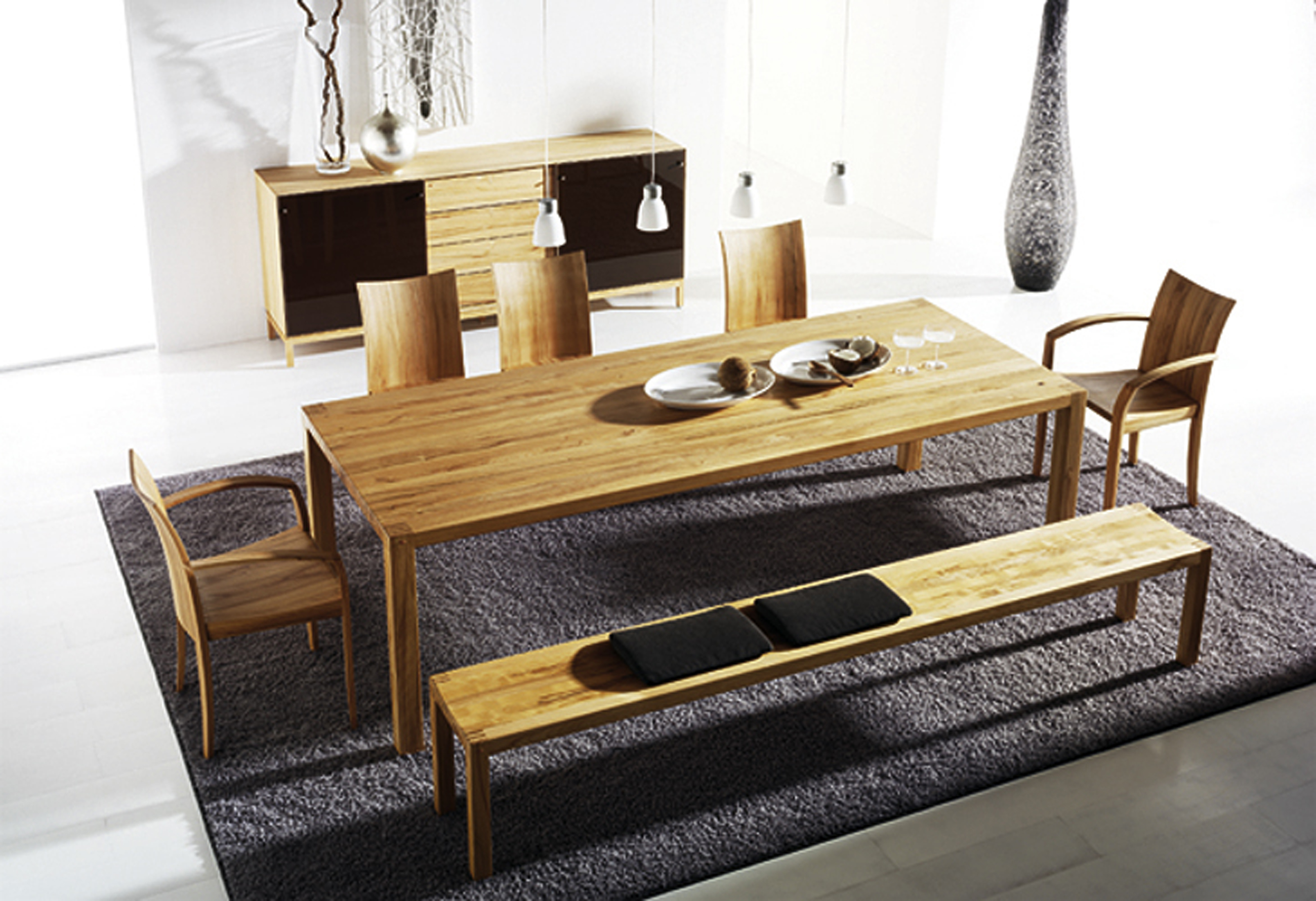 Charming Beautiful Loft Dining Table Modern Cabinet (Image 7 of 28)