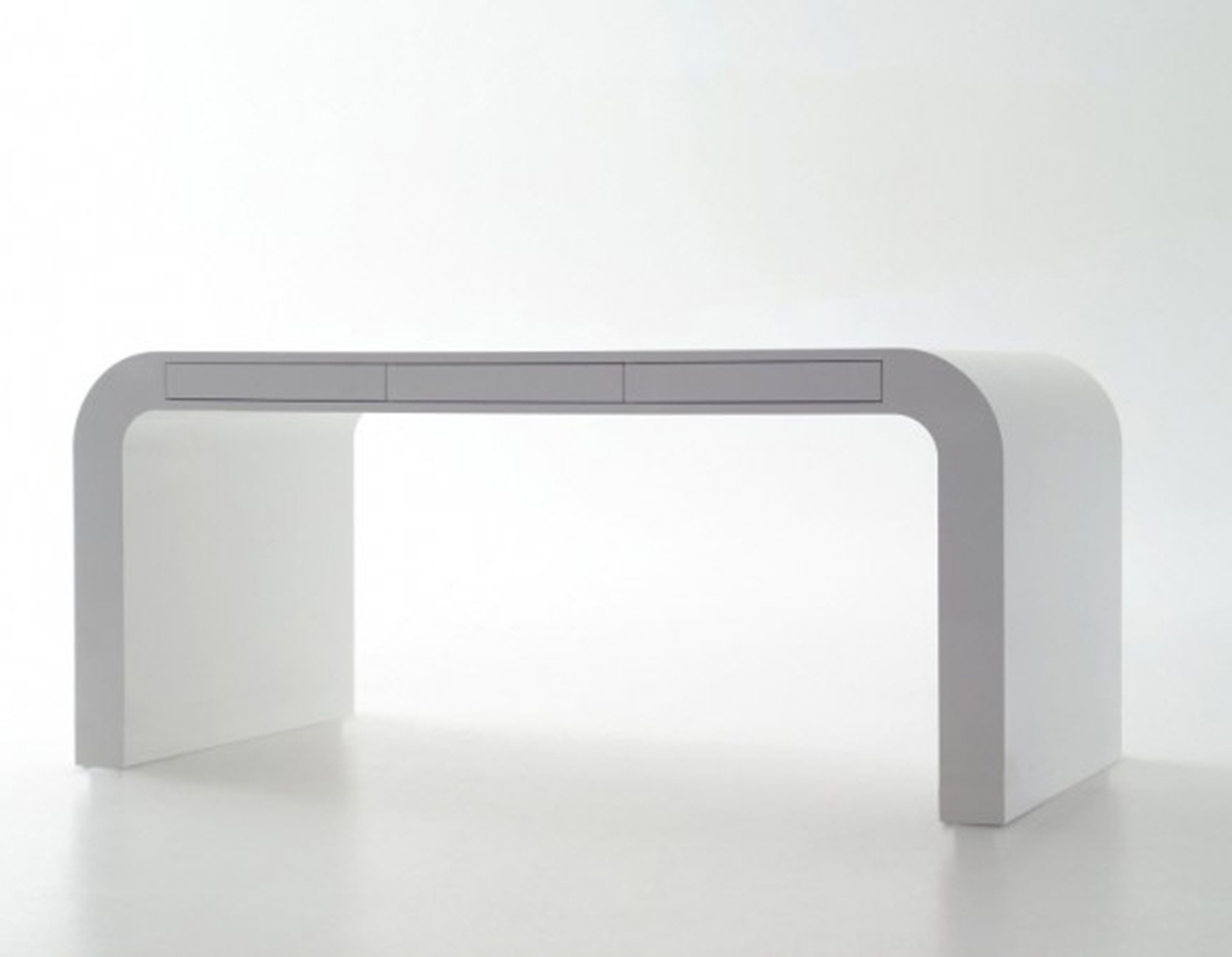 Graceful Modern Home Office Desk Design Idea In White With Drawers Fabulous Modern Home Office Desk Design Ideas (View 5 of 30)