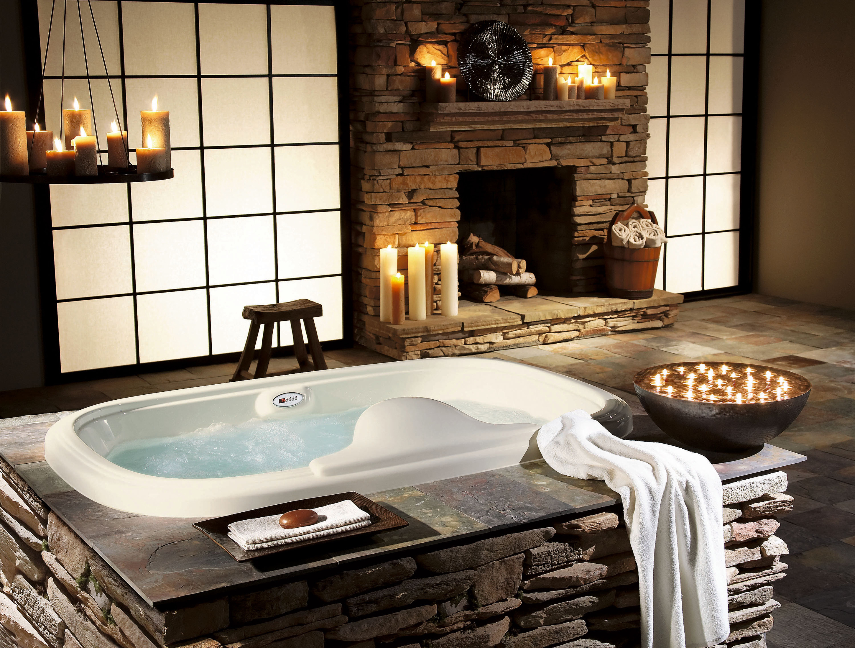 Luxurious Set Inspiration With White Bathtub Brown Soap Dish With Brown Soap And White Brown Candles Wonderful Set Inspiration (Image 28 of 123)