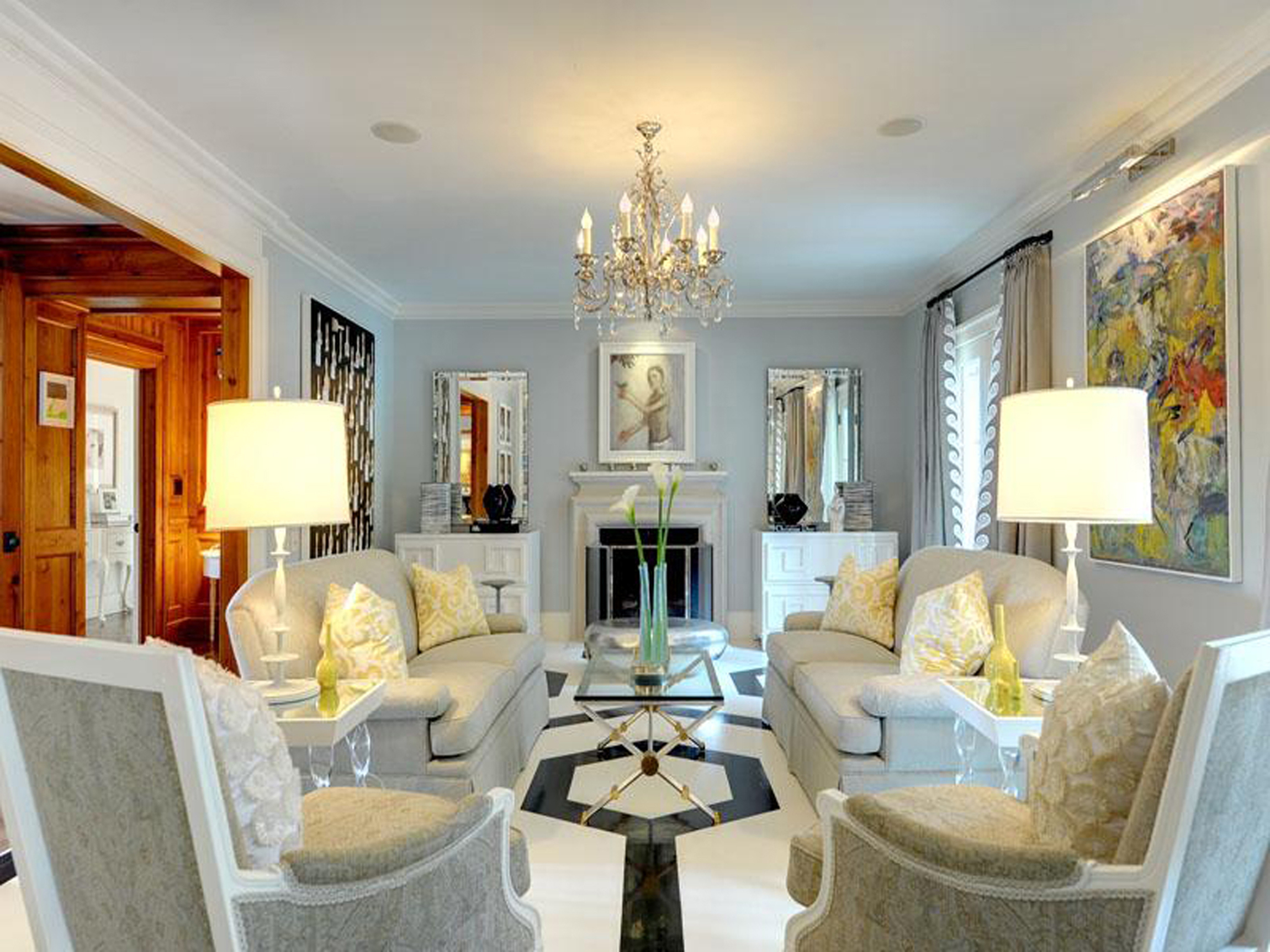 Luxurious White Living Room Decor (Image 34 of 123)