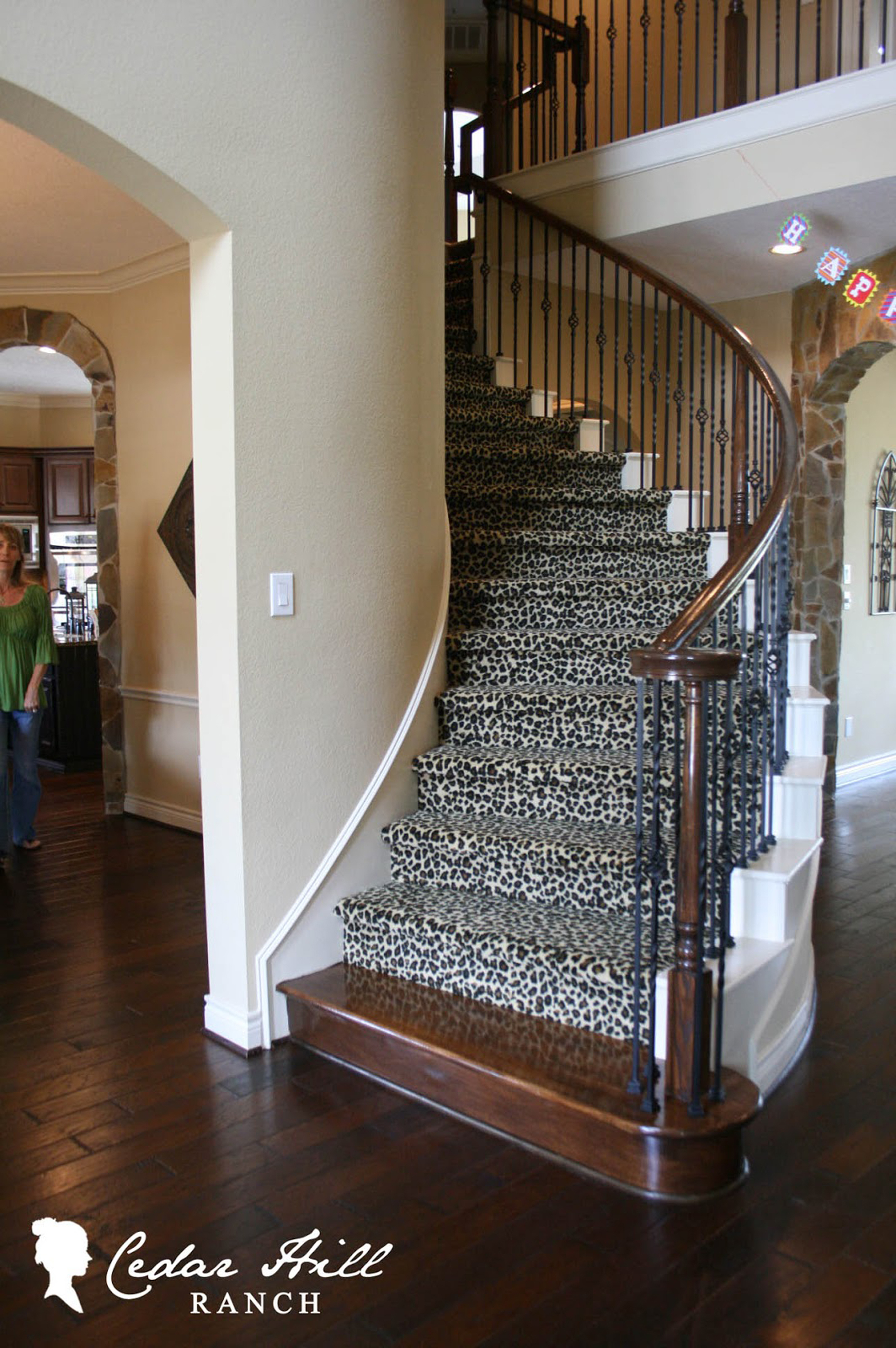 Luxury Black And White Carpeting Inspiration For Staircase With Black Banister With Brown Handrail Appealing Modern Carpeting Inspiration (Image 42 of 123)